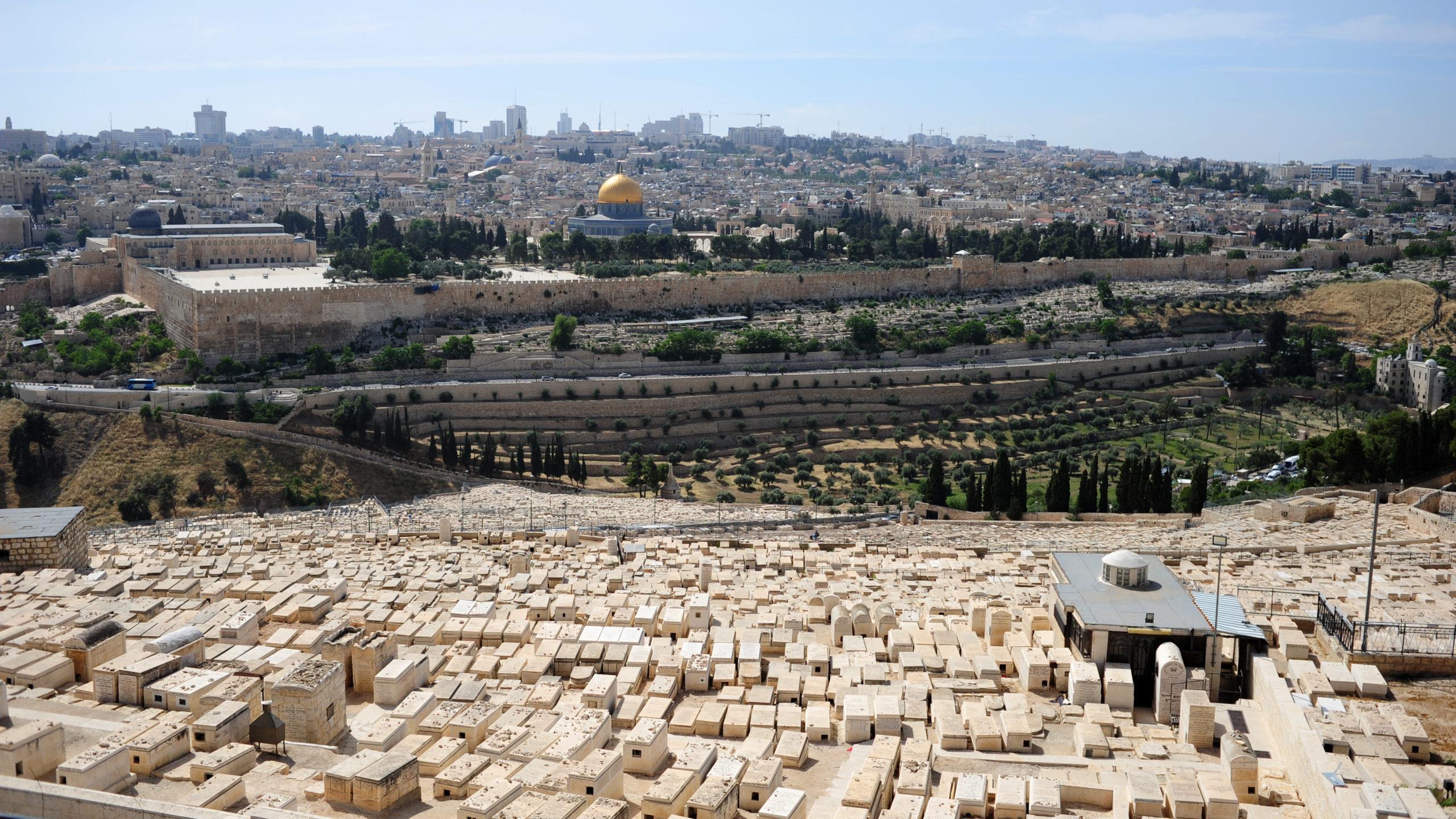 감람산 (Mt. Olive)의 무덤들